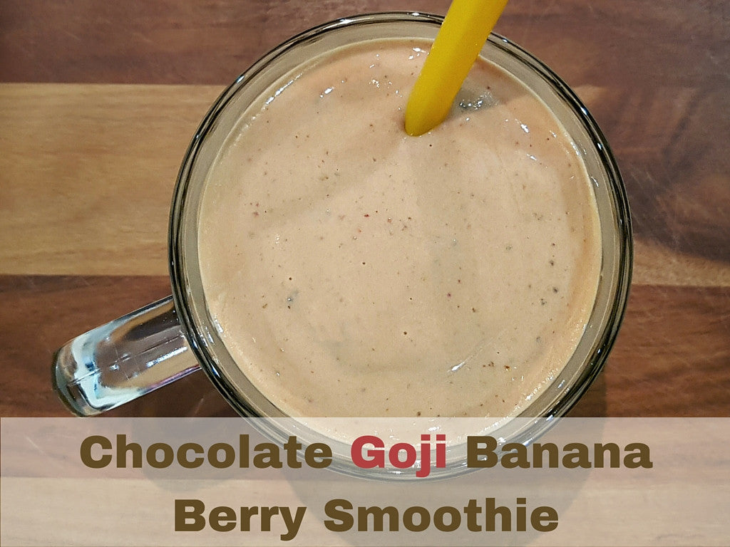 Chocolate Goji Banana Berry Smoothie