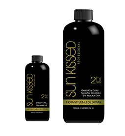 12% SUNLESS SPRAY ~ 125ml & 500ml ~ SUNKISSED Collection