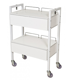 2 DRAWER ~ BEAUTY TROLLEY ~ WHITE ~ JOIKEN Collection