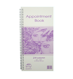 2/4 COLUMN ~ APPOINTMENT BOOK ~ AMW Collection