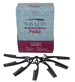 POLLIE DISPOSABLE RAZORS ~ BOX of 100 ~ BLACK ~ TOOLS ~ RAZORS & BLADES Collection