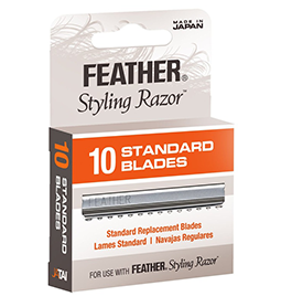 FEATHER ~ STYLING BLADES ~ 10 Pack ~ SUNDRIES ~ RAZORS & BLADES Collection