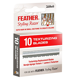 FEATHER ~ TEXTURIZING BLADES ~ 10 Pack ~ SUNDRIES ~ RAZORS & BLADES Collection