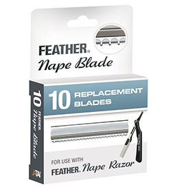 FEATHER ~ NAPE BLADES ~ 10 Pack ~ SUNDRIES ~ RAZORS & BLADES Collection