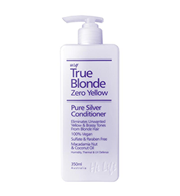 350ml ~ TRUE BLONDE ~ PURE SILVER CONDITIONER ~ ZERO YELLOW RANGE ~ HI LIFT Collection