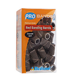 COURSE ~ 80 GRIT ~ PRO SANDING BANDS ~ PREMIUM GRADE ~ MEDICOOL ~ NAIL~ELECTRIC Collection