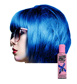 CAPRI BLUE ~ SEMI-PERMANENT HAIR COLOUR CREAM ~ CRAZY COLOR Collection