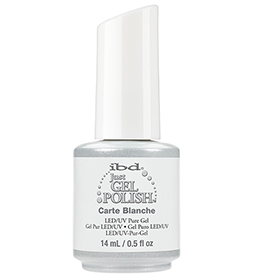 CARTE BLANCHE ~ 14ml ~ JUST GEL POLISH ~ IBD Collection