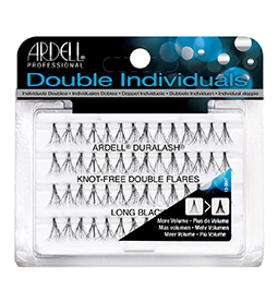 LONG BLACK ~ DOUBLE NATURAL ~ KNOT-FREE INDIVIDUAL LASHES ~ ARDELL Collection
