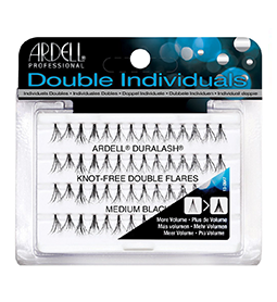 MEDIUM BLACK ~ DOUBLE NATURAL ~ KNOT-FREE INDIVIDUAL LASHES ~ ARDELL Collection