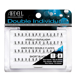 SHORT BLACK ~ DOUBLE NATURAL ~ KNOT-FREE INDIVIDUAL LASHES ~ ARDELL Collection