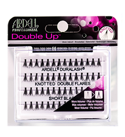 SHORT BLACK ~ DOUBLE KNOTTED ~ INDIVIDUAL FLARE LASHES ~ ARDELL Collection