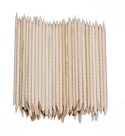 LARGE ~ ORANGE WOOD STICKS ~ 100 PACK ~ NAIL~TOOLS Collection