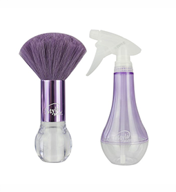 NECK BRUSH & SPRAY COMBO ~ PURPLE ~ STYLE MATES RANGE ~ HAIR Collection