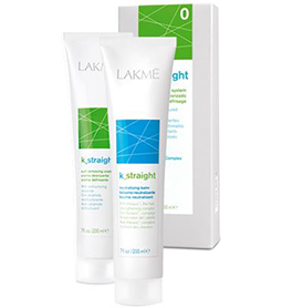 K_STRAIGHT '0' ~ NATURAL or COLOURED RESISTANT HAIR ~ CURL REMOVAL SYSTEM ~ LAKME Collection