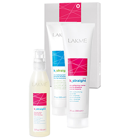 IONIC ~ K_STRAIGHT '0' ~ NATURAL or COLOURED RESISTANT HAIR ~ STRAIGHTENING SYSTEM ~ LAKME Collection