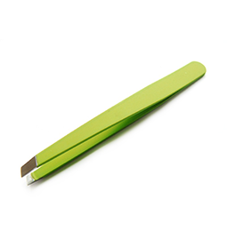 SLANTED TWEEZERS ~ GREEN ~ BEAUTY~TOOLS Collection