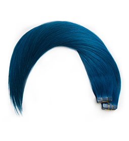ELECTRIC BLUE ~ HUMAN HAIR ~ 21 INCHES ~ S1 TAPE EXTENSION Collection