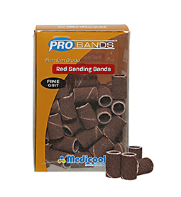 FINE ~ 240 GRIT ~ PRO SANDING BANDS ~ PREMIUM GRADE ~ MEDICOOL ~ NAIL~ELECTRIC Collection