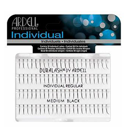 MEDIUM BLACK ~ INDIVIDUAL REGULAR LASHES ~ ARDELL Collection