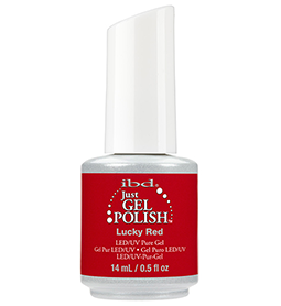 LUCKY RED ~ 14ml ~ JUST GEL POLISH ~ IBD Collection