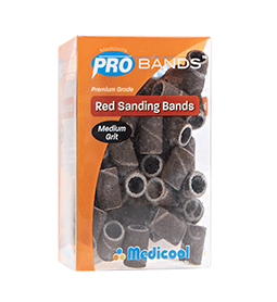 MEDIUM ~ 180 GRIT ~ PRO SANDING BANDS ~ PREMIUM GRADE ~ MEDICOOL ~ NAIL~ELECTRIC Collection