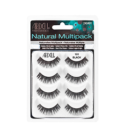 101 BLACK ~ MULTIPACK - 4 SETS ~ NATURAL STRIP LASH RANGE ~ ARDELL Collection