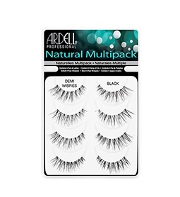 DEMI WISPIES BLACK ~ MULTIPACK - 4 SETS ~ NATURAL STRIP LASH RANGE ~ ARDELL Collection