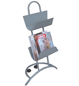 Magazine Rack ~ Silver ~ Display Stand ~ Joiken Collection ~ Rubys Salon Supplies