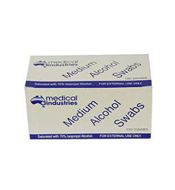 MEDIUM ALCOHOL WIPES ~ 100 x SWABS ~  MEDICAL INDUSTRIES CLEANING Collection