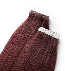 MERLOT ~ HUMAN HAIR ~ 21 INCHES ~ S1 TAPE EXTENSION Collection