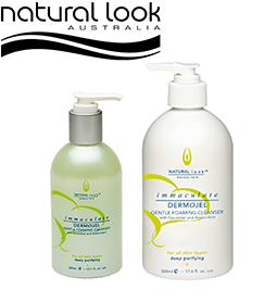 Immaculate Dermojel Foaming Cleanser ~ NATURAL LOOK Collection