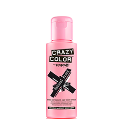 NATURAL BLACK ~ SEMI-PERMANENT HAIR COLOUR CREAM ~ CRAZY COLOR Collection