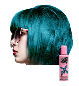 PEACOCK BLUE ~ SEMI-PERMANENT HAIR COLOUR CREAM ~ CRAZY COLOR Collection