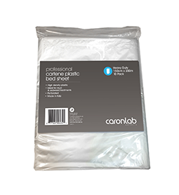 Caron Cartene Heavy Duty Plastic Bed Sheets 10pkt