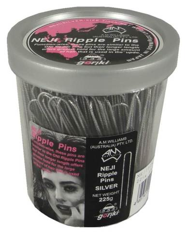 "3"" NEJI RIPPLE PINS ~ 250g TUB ~ AMW ~ 555 PIN Collection"