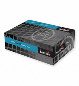 BLACK ~ Nitrile Gloves ~ Powder Free ~ BASTION Collection