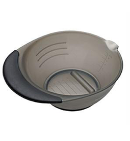 CHARCOL RUBBER GRIP TINT BOWL ~ B&B-SUNDRIES Collection