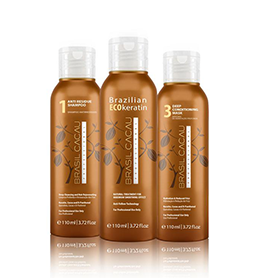 MINI ~ KERATIN KIT ~ 3 x 110ml ~ BRASIL CACAU Collection
