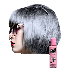 SILVER ~ SEMI-PERMANENT HAIR COLOUR CREAM ~ CRAZY COLOR Collection