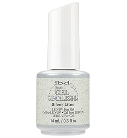 SILVER LITES ~ 14ml ~ JUST GEL POLISH ~ IBD Collection