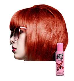 VERMILLION RED ~ SEMI-PERMANENT HAIR COLOUR CREAM ~ CRAZY COLOR Collection