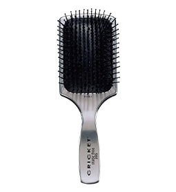 LARGE ~ SILVER ~ VISAGE 395 ~ STATIC FREE ~ PADDLE BRUSH ~ CRICKET Collection