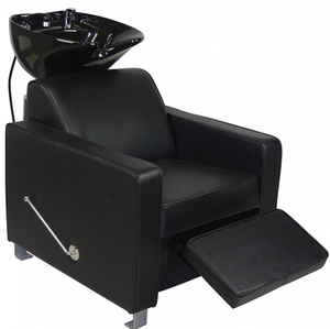 DERBY ~ SHAMPOO UNIT ~ BLACK UPHOLSTERY ~ JOIKEN Collection