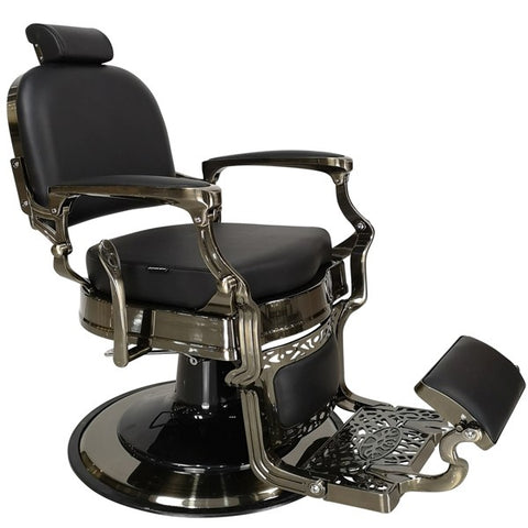 HAVANA ~ BARBER CHAIR ~ BLACK UPHOLSTERY ~ JOIKEN COLLECTION