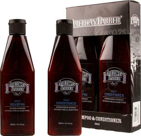 AMERICAN BARBER - DAILY  SHAMPOO & DAILY CONDITIONER DUO PACK 300ml