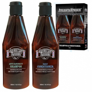 AMERICAN BARBER - ANTI-DANDRUFF  SHAMPOO & DAILY CONDITIONER DUO PACK 300ml