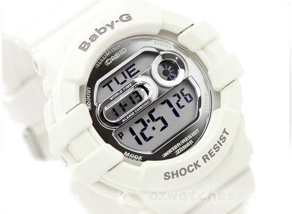 CASIO BABY-G DIGITAL LADIES WHITE WATCH BGD-141-7
