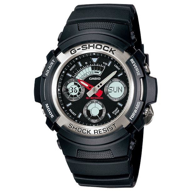 CASIO G-SHOCK ANALOGUE/ DIGITAL MENS WATCH AW-590-1ADR