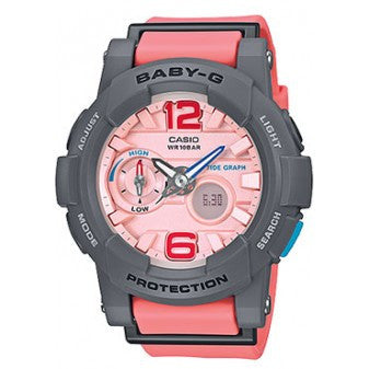 CASIO BABY-G ANALOGUE/ DIGITAL LADEIS WATCH BGA-180-4B2DR